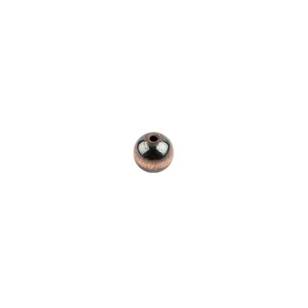 Perlen, Rund, Tigerauge, Ø 0,9cm, braun-gold, 32 Stück