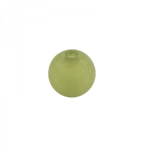 Perlen, gefrostet, Ø 8mm, 100 Stück, dunkelgrün