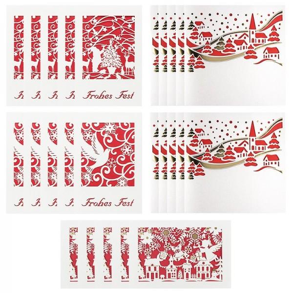 Glückstreffer-Set, Laser Grußkarten
