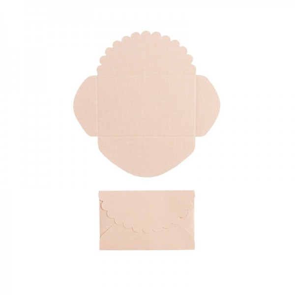 Mini-Umschläge, 2,9 x 4,6 cm, 100 Stück, lachs