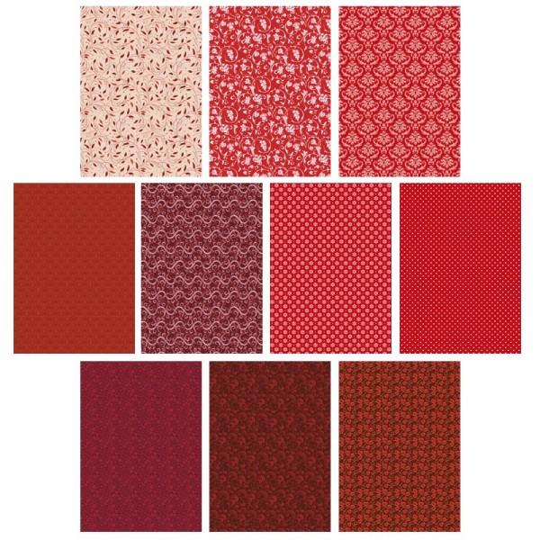 Deko-Karton Set, rot, DIN A4, 10er Set