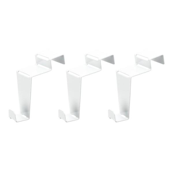 Deko-Fenster- & Türhaken, Design 2, 6,5cm x 3cm x 6,1cm, weiß, 3 Stück