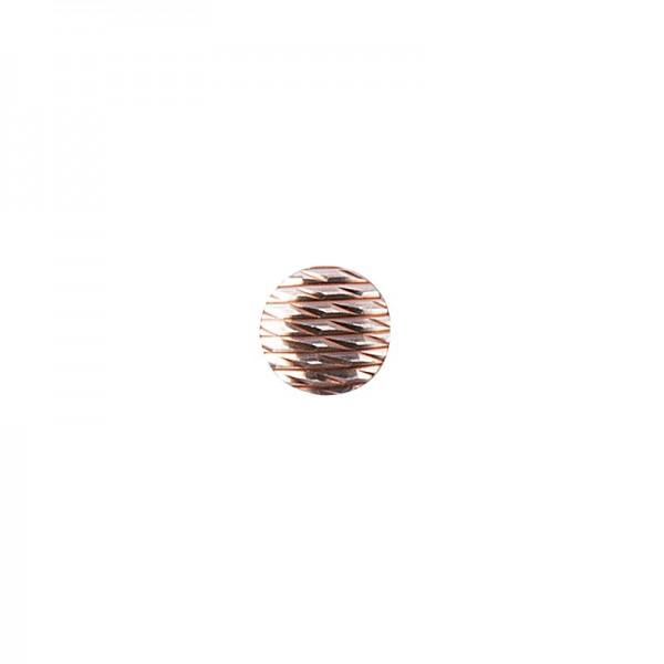 Hot-Fix Relief-Nieten zum Aufbügeln, Ø 6mm, roségold, 200 Stück