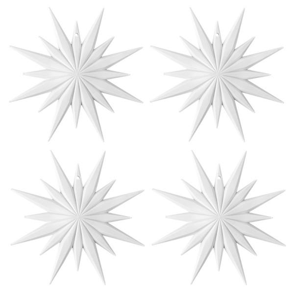 Winter-Deko, Rohling, Stern 4, Ø 12cm, weiß, 4 Stück