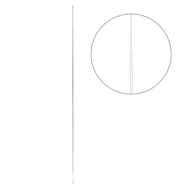 Perlen-Nadeln, 7,6cm lang, Nadelöhr 6,8cm lang, 2 Stück