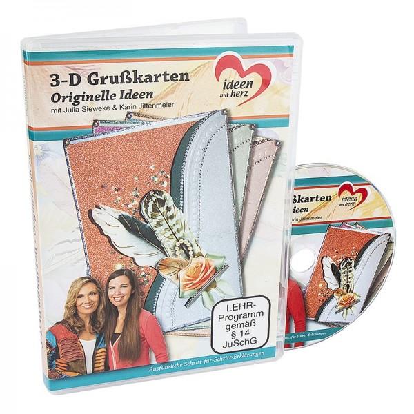 DVD, 3-D Grußkarten: Originelle Ideen, Julia Sieweke & Karin Jittenmeier, 80 Min.