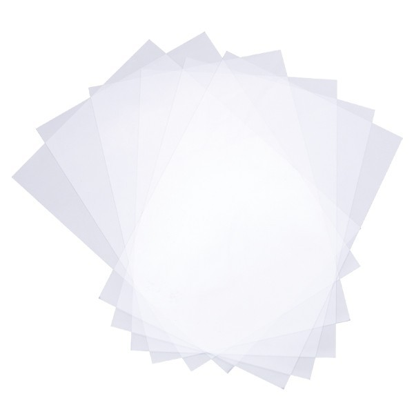 Transparente Windradfolie, nichtklebend, A5, 120 µ, 10 Folien