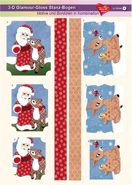 3-D GlamourGloss Bogen, Im Winter, DIN A4, Motiv 4