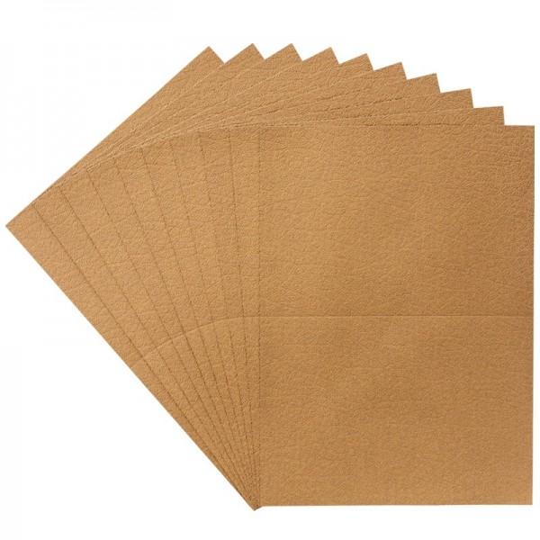 Geprägte Perlmutt-Doppelgrußkarten + Umschläge, DIN B6, 10 Stück