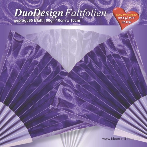 DuoDesign Faltfolien, geprägt, 10 x 10 cm, 65 Blatt