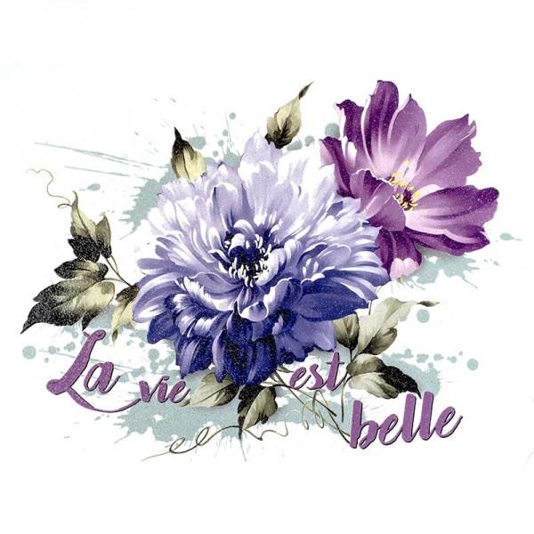 Color Bügeltransfer, Glitzer, DIN A4, Blumen 7