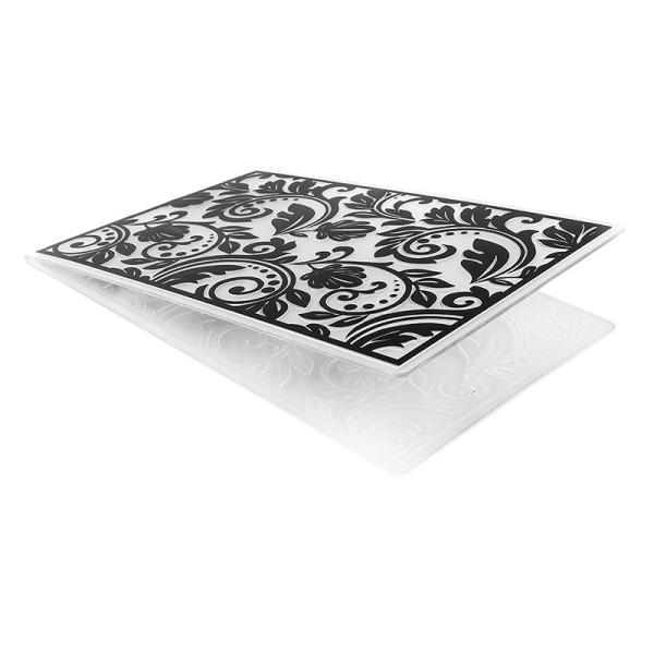 Prägeschablone, Hintergrund Ornamentik 1, 15cm x 10cm, passend für gängige Präge- & Stanzmaschinen