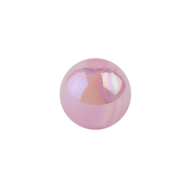 Perlen, irisierend, Ø 4mm, rosa-irisierend, 200 Stk.
