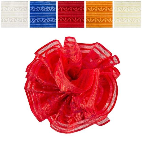 Zieh-Rüschenband, Organza & Satin 2, 1m x 3,8cm, 10 Stück