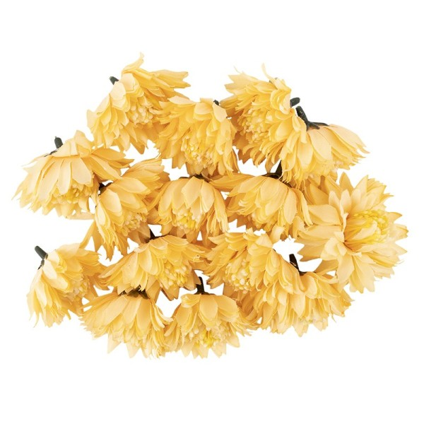 "Deko-Blüten ""Dahlie 4"", Ø 6cm, apricot, 15 Stück"