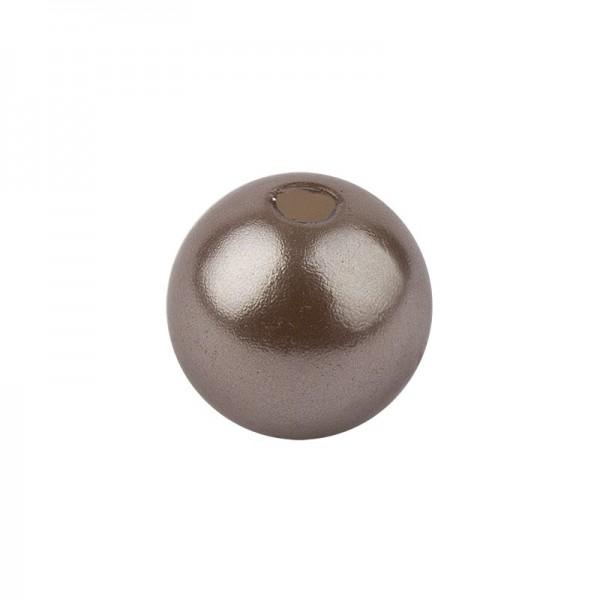 Perlmutt-Perlen, Ø1 cm, 50 Stück, taupe