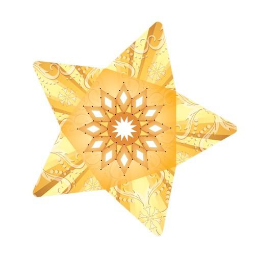 Stern-Stanzformen für 3-D Leuchtstern, 12 Stück, Design 4
