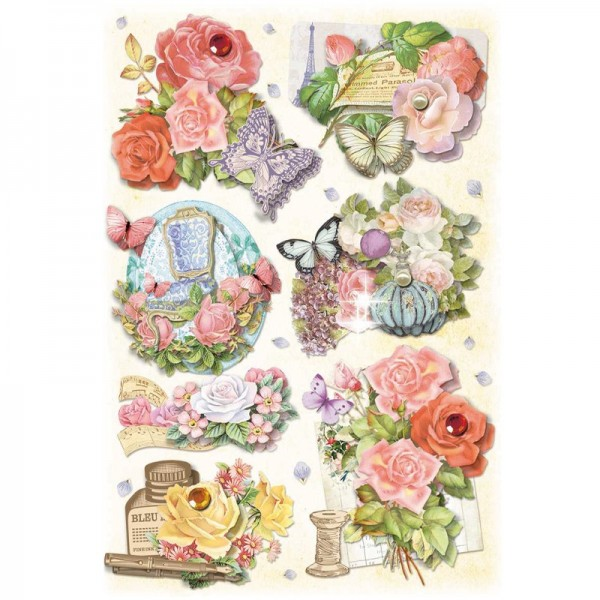 3-D Stickerbogen, Fashion-Blumen 3, 12,7 x 18,8 cm