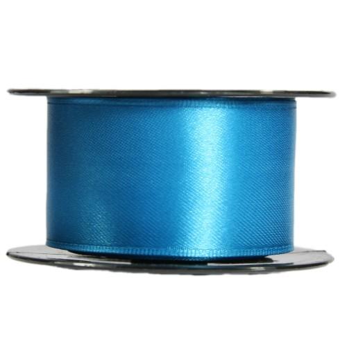 Satin-Schleifenband mit Drahtkante, 39mm x 10m, blau