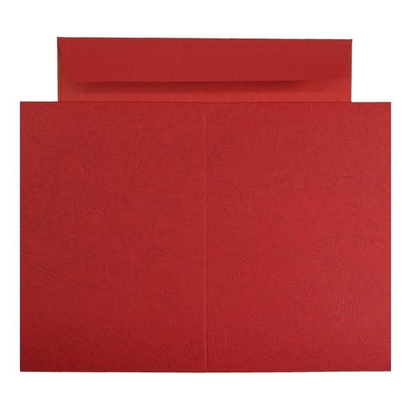 10er Grußkarten-Set, Lederprägung, C6, inkl. Umschläge, orange