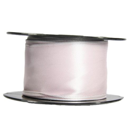 Satin-Schleifenband mit Drahtkante, 39mm x 10m, zartrosa