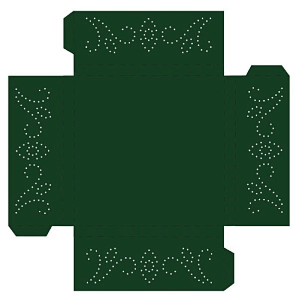 Prickelpodest für Deko-Lichtwürfel, 11x11cm, dunkelgrün