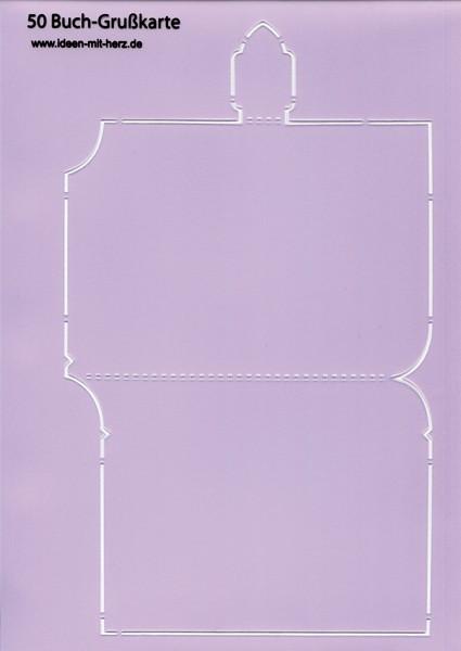"Design-Schablone Nr. 50 ""Buch-Grußkarte"", DIN A4"