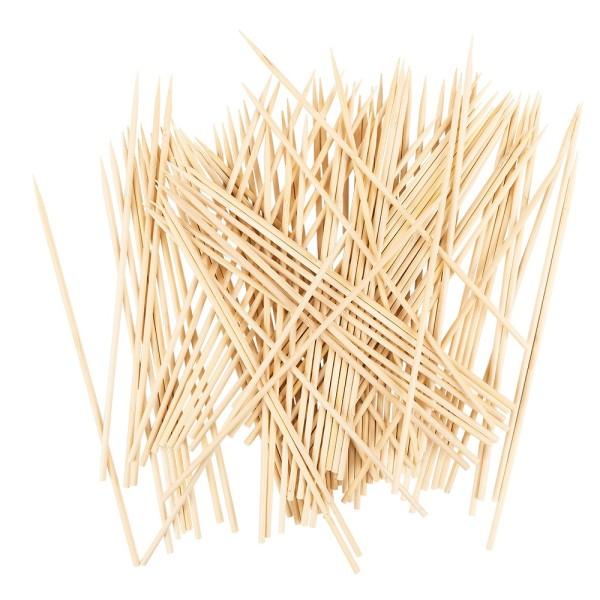 Holzspieße 2, 20cm lang, Ø 3mm, 100 Stück