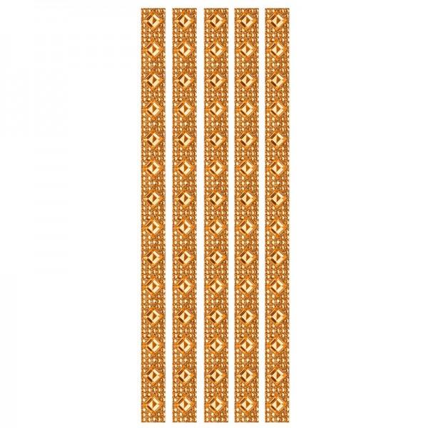 Royal-Schmuck, 5 selbstklebende Bordüren, 29 cm, orange