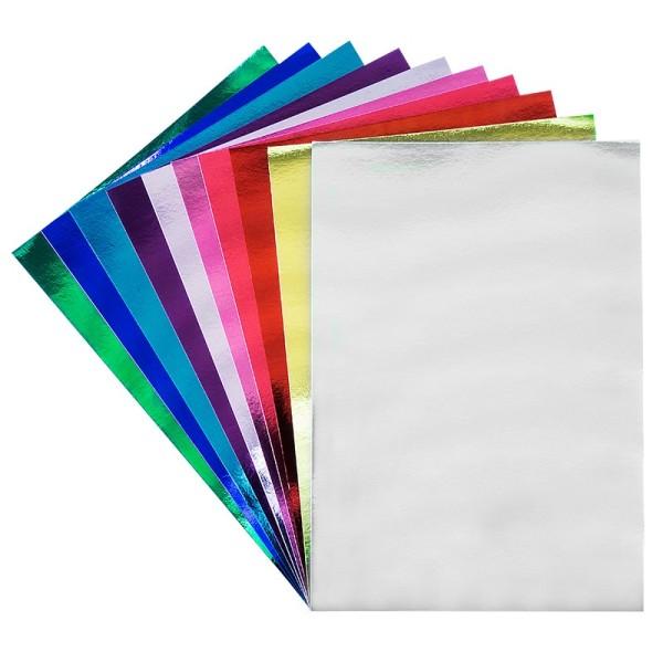 Spiegelkarton, DIN A3, 250g/m², verschiedene Farben, 10 Stück