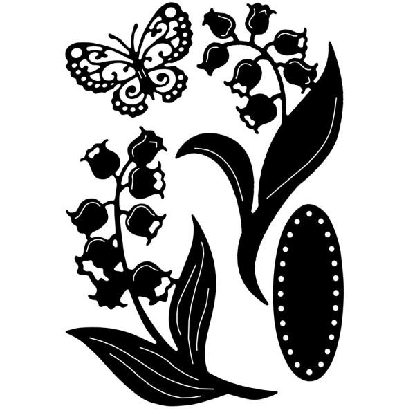 Stanzschablonen, Maiglöckchen, 4 Stück