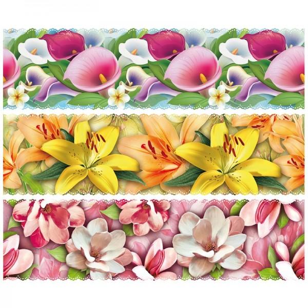"""Zauberfolien """"Blütenpracht"""", Schrumpffolien für Eier mit 6cm x 4,5cm, 5,5cm hoch, 6 Stück"""