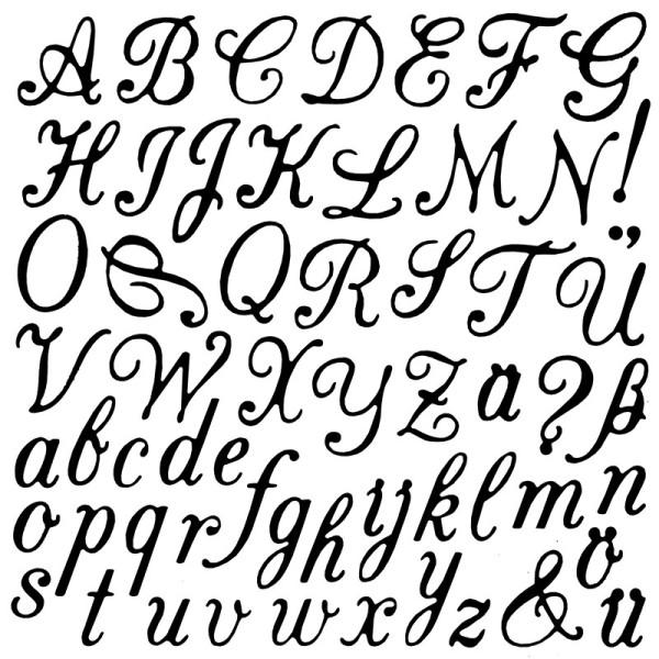 Stanzschablonen, Buchstaben & Satzzeichen, 61 Stück