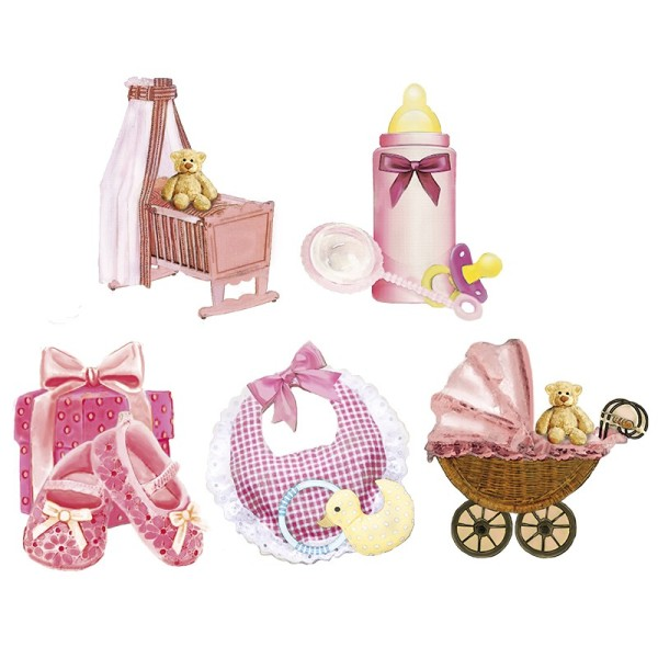 3-D Motive, Baby/Mädchen, 5-8,5cm, 10 Motive