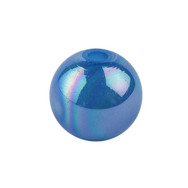 Perlen, irisierend, Ø 6mm, blau-irisierend, 150 Stk.