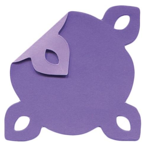 DuoColor Stanz-Faltpapiere, 5 x 5 cm, violett, 4 Ecken, 200 Blatt