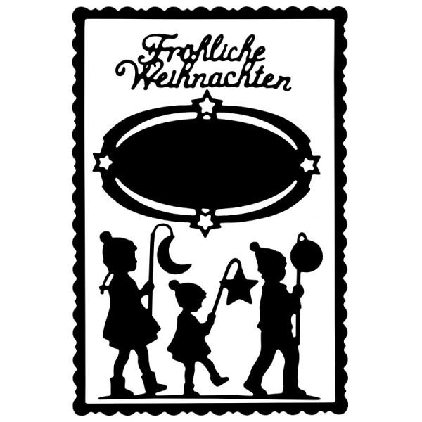 Stanzschablonen, Laternenkinder & Fröhliche Weihnachten, 4 Stück
