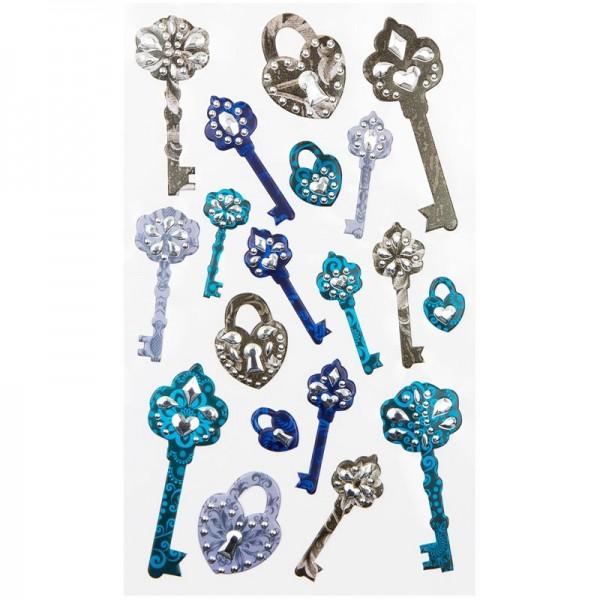 Chaton-Relief-Sticker, Schlüssel 2, 12,5 x 20,5 cm