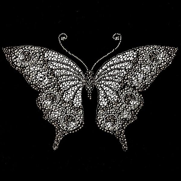 Bügelstrass-Design, DIN A4, mehrfarbig, Schmetterling