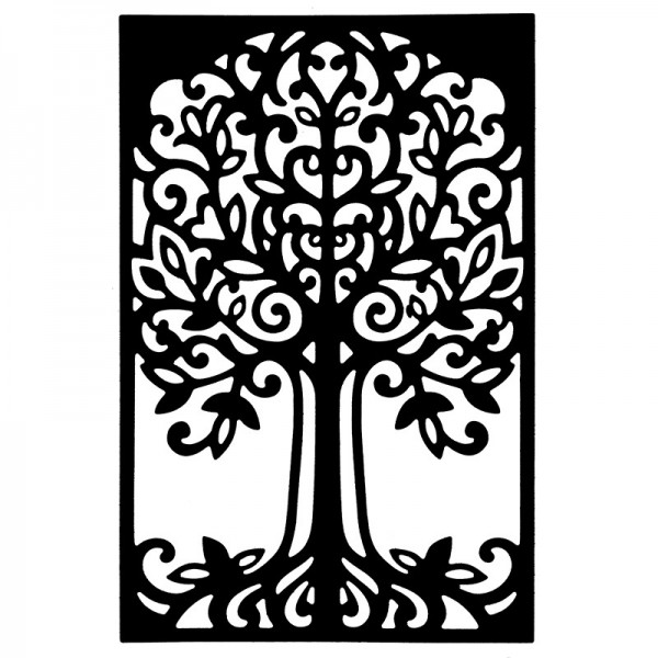 Stanzschablone, Baum 2, 9,6cm x 14,7cm