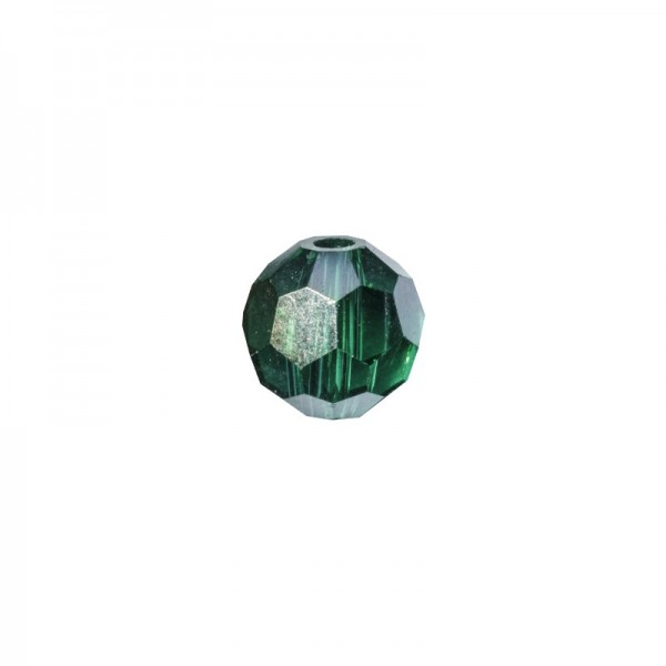 Glas-Perlen, transparent, Ø6 mm, 20 Stück, jade-irisierend
