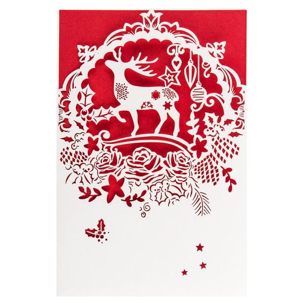 """Laser-Grußkarte """"Weihnachten 2"""", 12x18cm, mit Einleger & Umschlag"""