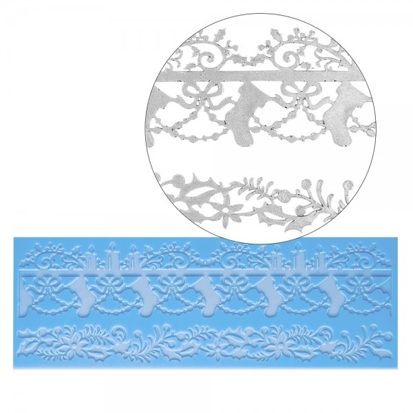 Silikon-Dekormatte, Design 10, 30cm x 10cm x 0,2cm