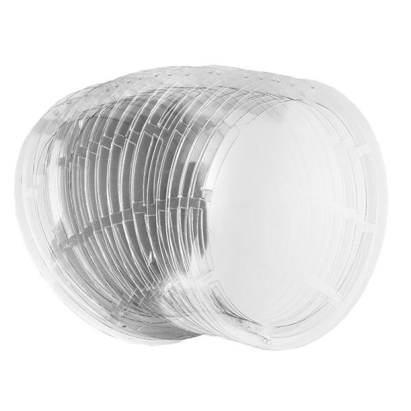 Windradfolien-Scheiben, Oval, 17cm x 12,6cm, transparent, 500µ, 20 Stück