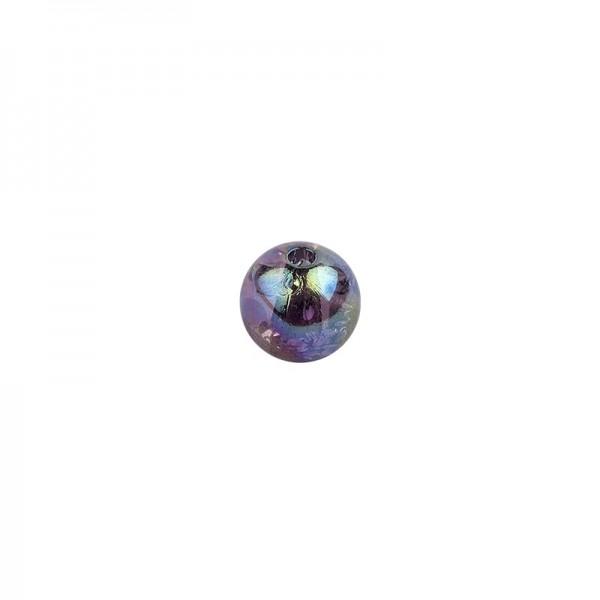 Perlen, transparent, irisierend, Ø8mm, 100 Stück, schwarz