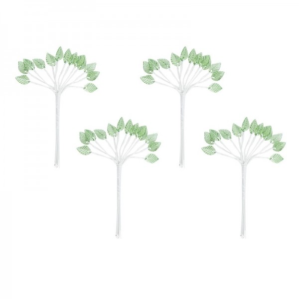 Acryl-Blätter auf Draht-Stiel, 14 cm lang, Design 2, 50 Stück