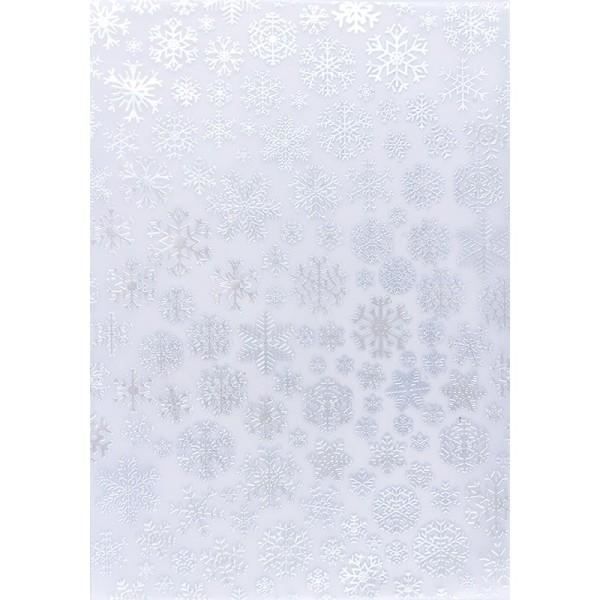 Transparentpapiere, Nova Noblesse 5, mit Top-Prägung & Perlmuttlack, DIN A4, 5 Bogen, taubenblau