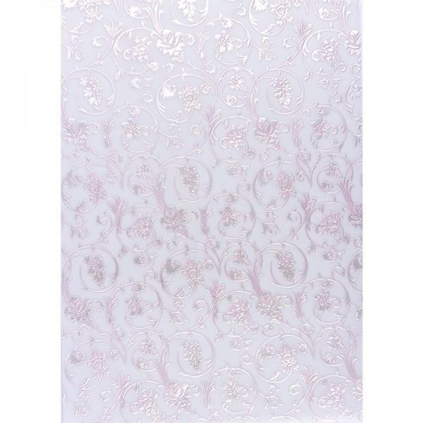 Transparentpapiere, Nova Noblesse 3, mit Top-Prägung & Perlmuttlack, DIN A4, 5 Bogen, rosé
