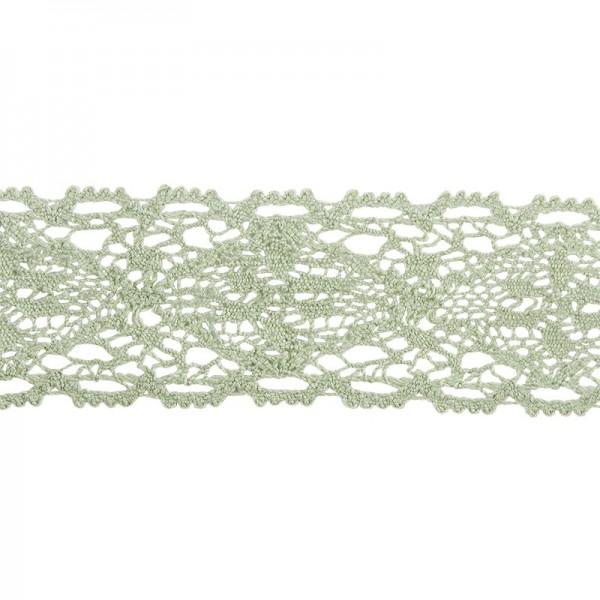 Häkelspitze Design 9, 3,7cm breit, 2m lang, grün