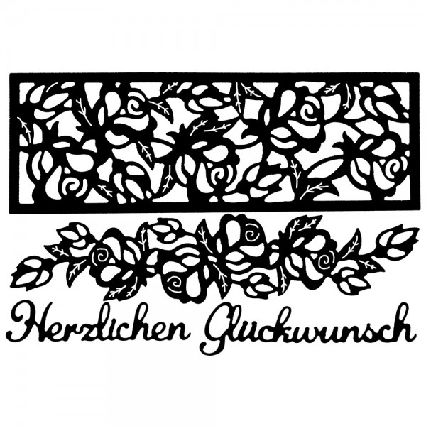Stanzschablonen, Rosenbordüren, 4 Stück